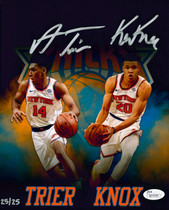 Kevin Knox Allonzo Trier Knicks Signed Autographed 8x10 Photo LE/25 JSA Auth