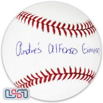 Andres Gimenez Indians Autographed Full Name Major League Baseball JSA Auth