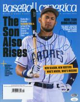 Fernando Tatis Jr. Padres Signed Autographed Baseball America Magazine JSA Auth