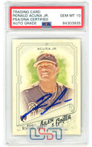 Ronald Acuna Jr. Braves Signed 2018 Topps Allen & Ginter RC #207 PSA/DNA 10 Auto