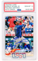 "Ronald Acuna Jr. Signed ""NL ROY"" 2018 Topps Update RC #US250 PSA/DNA 10 Auto"