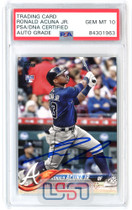 Ronald Acuna Jr. Braves Signed 2018 Topps Update RC #US250 PSA/DNA 10 Auto