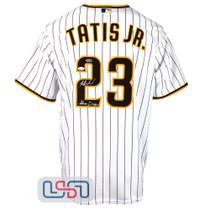 "Fernando Tatis Jr. Signed ""Slam Diego"" White San Diego Padres Nike Jersey JSA Auth"