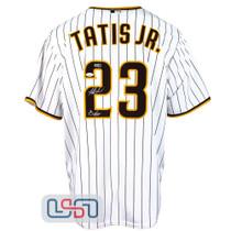 "Fernando Tatis Jr. Signed ""Bebo"" White San Diego Padres Nike Jersey JSA Auth"