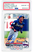 Ronald Acuna Jr. Signed Full Name 2017 Bowman Draft RC #BD-39 PSA/DNA 10 Auto