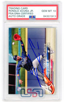 Ronald Acuna Jr. Braves Signed 2018 Topps Update RC #US252 PSA/DNA 10 Auto