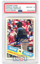 Ronald Acuna Jr. Signed 2018 Topps Heritage Now & Then #NT-14 PSA/DNA 10 Auto
