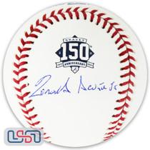 Ronald Acuna Jr. Braves Signed Full Name 150th Anniversary Baseball JSA Auth