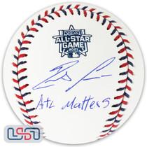 "Ronald Acuna Jr. Braves Signed ""ATL Matters"" 2021 All Star Baseball JSA Auth"