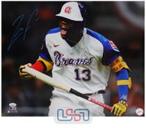 Ronald Acuna Jr. Braves Signed Spotlight 16x20 Photo Photograph JSA Auth #24