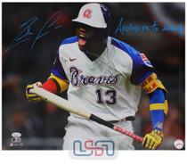 "Ronald Acuna Jr. Signed ""Apologize to Nobody"" Spotlight 16x20 Photo JSA Auth #24"