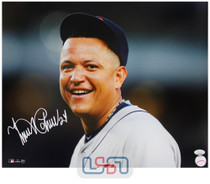 Miguel Cabrera Tigers Signed Autographed 16x20 Photo Photograph JSA Auth #23