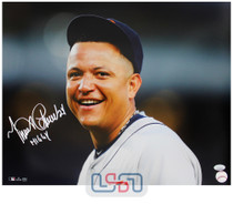 """Miguel Cabrera Tigers Autographed """"Miggy"""" 16x20 Photo Photograph JSA Auth #23"""