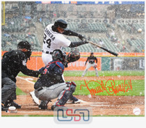 Miguel Cabrera Tigers Signed Autographed 16x20 Photo Photograph JSA Auth