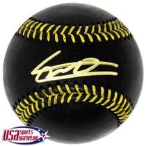 Vladimir Guerrero Jr. Blue Jays Signed Black Major League Baseball JSA Auth