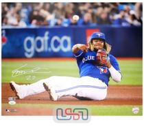 Vladimir Guerrero Jr. Blue Jays Autographed 16x20 Photograph Photo JSA Auth #3