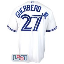 "Vladimir Guerrero Jr. Signed ""MLB Debut"" White Blue Jays Nike Jersey JSA Auth"
