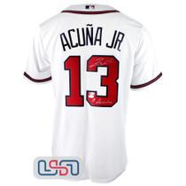 """Ronald Acuna Jr. Signed """"El Abusador"""" White Atlanta Braves Nike Jersey JSA Auth"""