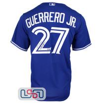 "Vladimir Guerrero Jr. Signed ""Go Jays"" Authentic Blue Jays Nike Jersey JSA Auth"