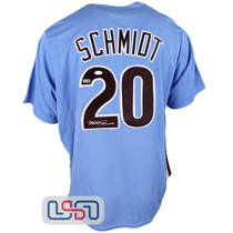 Mike Schmidt Autographed Blue Authentic Phillies Cooperstown Jersey JSA Auth