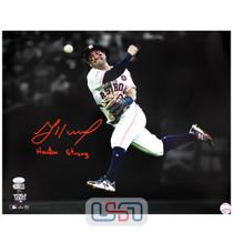 "Jose Altuve Astros Signed ""Houston Strong"" 16x20 Photograph Photo JSA Auth #2"