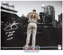 "Joe Musgrove Padres Autographed ""1st Padres Start"" 16x20 Photograph USA SM #2"
