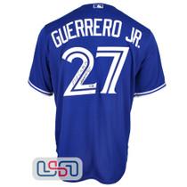 "Vladimir Guerrero Jr. Signed ""Ooo Canada"" Blue Blue Jays Nike Jersey JSA Auth"