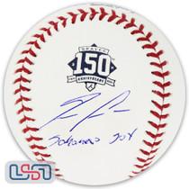 "Ronald Acuna Jr. Signed ""Sabanero Soy"" Braves Anniversary Baseball JSA Auth"