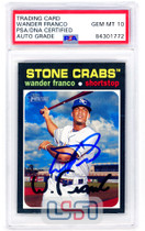 Wander Franco Rays Signed 2020 Topps Heritage Minors #1 PSA/DNA 10 Auto