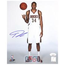 Giannis Antetokounmpo Bucks Autographed Signed 8x10 Photograph Photo JSA Auth #1