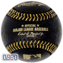 Rawlings Official Black Leather Major League Game MLB Baseball Manfred - Boxed