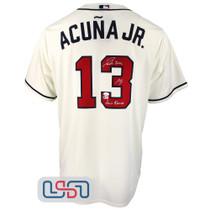 Ronald Jose Acuna Blanco Jr. Signed Full Name Cream Braves Nike Jersey JSA Auth