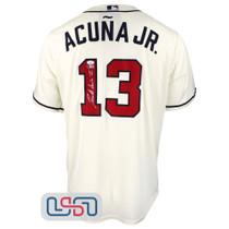 Ronald Acuna Jr. Signed Full Name Cream Atlanta Braves Nike Jersey JSA Auth