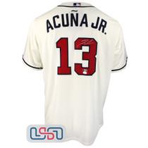 Ronald Acuna Jr. Signed Cream Atlanta Braves Nike Jersey JSA Auth