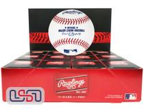 (12) Rawlings Leather Major League Game MLB Baseball Manfred Boxed - Dozen