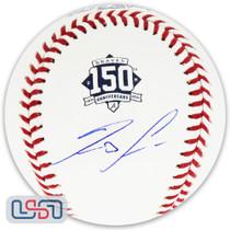 Ronald Acuna Jr. Braves Signed150th Anniversary Baseball JSA Auth