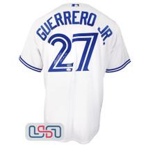 "Vladimir Guerrero Jr. Signed ""Plakata"" White Blue Jays Majestic Jersey JSA Auth"