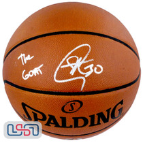 """Stephen Curry Signed """"The GOAT"""" Authentic Spalding NBA Basketball USA SM Auth"""