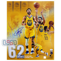 Stephen Curry Warriors Signed Autographed 16x20 Photograph Photo USA SM Auth #2