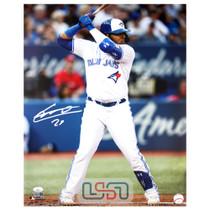 Vladimir Guerrero Jr. Blue Jays Autographed 16x20 Photograph Photo JSA Auth #23