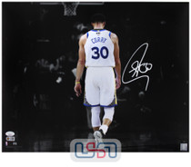 Stephen Curry Warriors Signed Autographed 16x20 Photograph Photo JSA Auth #9