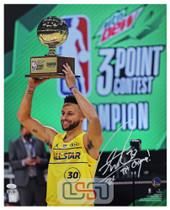 """Stephen Curry Warriors Signed """"2x Champ"""" 16x20 Photograph Photo USA SM Auth #1"""