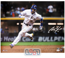 Christian Yelich Brewers Signed Autographed 16x20 Photograph Photo JSA Auth #2