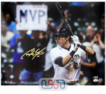 Christian Yelich Brewers Signed Autographed 16x20 Photograph Photo JSA Auth #3