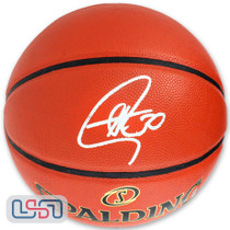 Stephen Curry Signed Autographed NBA Finals Warriors Spalding Basketball USA SM