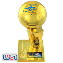 Stephen Curry Warriors Signed Autographed 2017 NBA Finals Replica Trophy USA SM