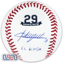 "Adrian Beltre Rangers Autographed ""El Koja"" #29 Retirement Baseball JSA Auth"