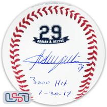 "Adrian Beltre Rangers Autographed ""3,000 Hit"" #29 Retirement Baseball JSA Auth"