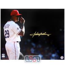 Adrian Beltre Texas Rangers Signed Autographed 16x20 Photo Photograph JSA Auth