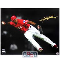 Adrian Beltre Rangers Signed Autographed 16x20 Photo Photograph JSA Auth #3